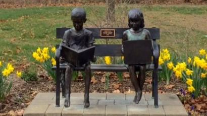 The Jackson Friends of the Library have donated and installed a sculpture to represent the library diversity, reading encouragement and utilizing technology.
