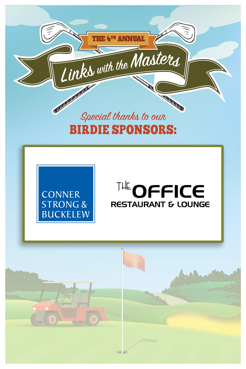 Birdie Sponsors the Office Restaurant & Lounge and Connor, Strong, & Buckelew